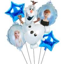 1 conjunto disney olaf dos desenhos animados elsa anna neve rainha princesa balões de folha ar inflável globo chuveiro do bebê festa aniversário decorações