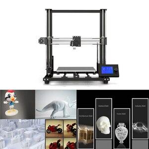 Image 3 - 새로운 Anet A8 플러스 업 그레 이드 고정밀 DIY 3D 프린터 자체 조립 300*300*350mm 대형 인쇄 크기 알루미늄 합금 프레임