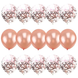 Image 3 - Rose Gold Foil Baloons Latex Ballon Confetti Birthday Party Decoration Kids Toys Baby Shower Balloons Air Balls globos Supplies