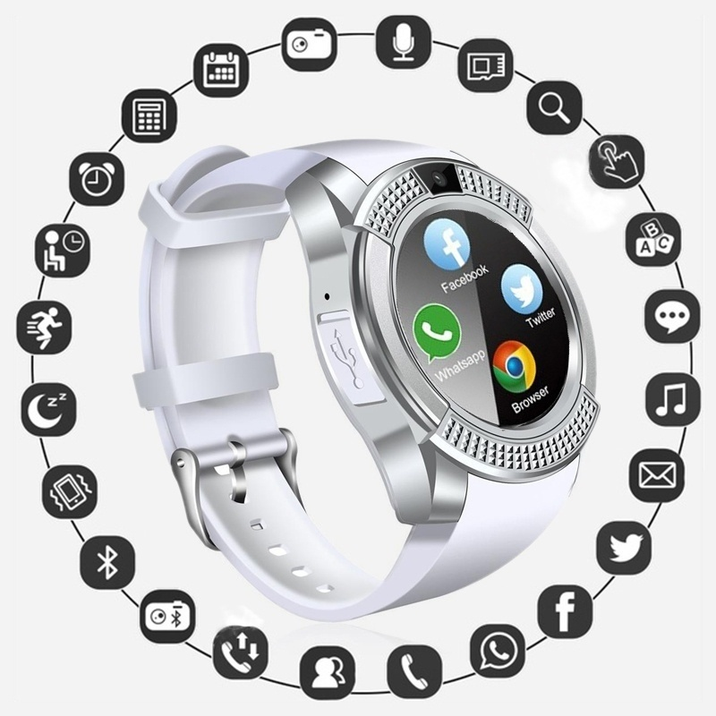Bluetooth Smart Watch Phone With Camera Sim TF Card Android SmartWatch Phone Call Bracelet Watch For Android Smart Phone