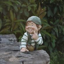 купить Garden Gnome Statue Dwarves  Figurines Lawn Yard Art Ornament Resin Outdoor Statue Decorative Home Garden Decor Ornament дешево