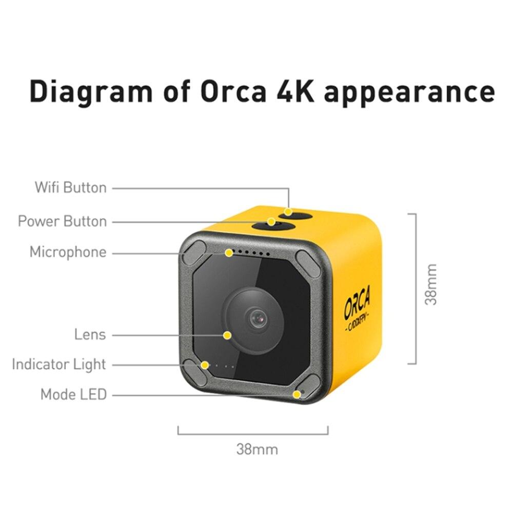 Voorverkoop Caddx Orca 4K HD Opname Mini FPV Camera FOV 160 Graden WiFi Anti Shake DVR Actie Cam voor RC Racing Drone Vliegtuig - 6