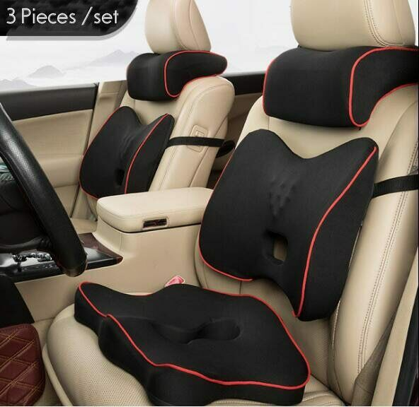 Подушка для автомобильного сиденья и подушка для поддержки спины из пены с эффектом памяти
