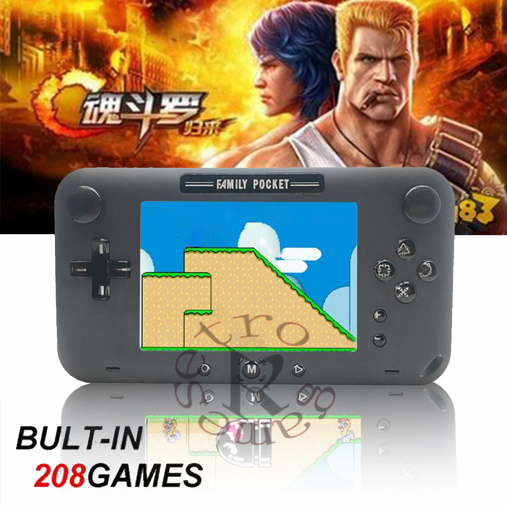 Handheld Game Console 4 Inch 208 Games 12bit Retro Game Player Classi Game Console controller gamepad Wireless Game