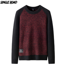 Single Road Sweater Men 2019 Men's Winter Clothes Knitted Pullover Jumper Wool Cashmere Sweaters Male High Quality For Men Brand male jumper puma 75231801 sports and entertainment for men sport clothes tmallfs