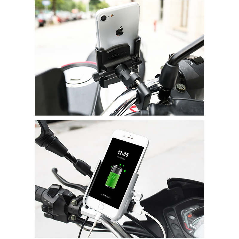 MOTOWOLF Phone Holder Motorcycle Charger Support Telephone Moto Quad Lock Phone For IPHONE XIAOMI SAMSUNG VIVO Lenovo NOKIA