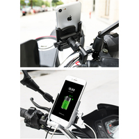 Motopolf suporte do telefone da motocicleta carregador suporte telefone moto quad bloqueio telefone para iphone xiaomi samsung vivo lenovo nokia|Proteção contra roubo|   -