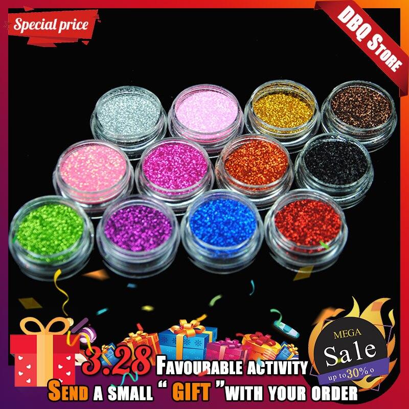 12 farbe Körper Glitter Acryl Pulver Staub Nagel Pailletten Maniküre Dekoration Tattoo Liefert Dekorationen