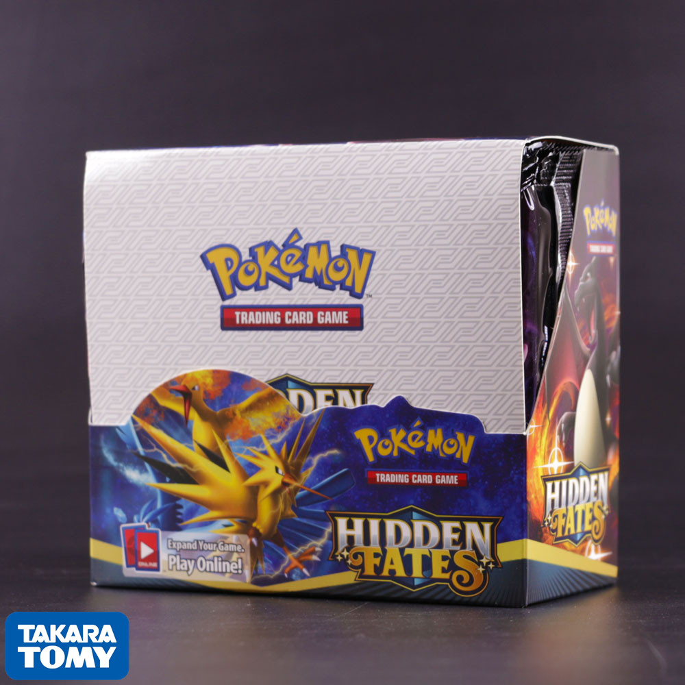 324pcs Pokemon Cards TCG: Sun & Moon Hidden Fates Booster Box Trading Card Game Collectible Kids Toys Gift