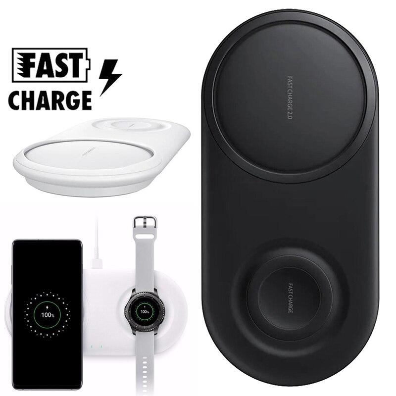 Chargeur Sans Fil Duo Pad pour Samsung Note 10 Plus 9 8 S10 S9 S8 Plus S10e 25W Chargeur Sans Fil à charge rapide Chargeur Sans Fil