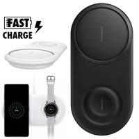 Wireless Charger Duo Pad For Samsung Note 10 Plus 9 8 S10 S9 S8 Plus S10e 25W Fast Charging Wirless Charger Chargeur Sans Fil