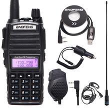 Baofeng Walkie Talkie UV 82 con Radio bidireccional, portátil, doble PTT, UV 82, VHF, UHF, Ham, estación de Radio CB 5W, transceptor de caza UV82
