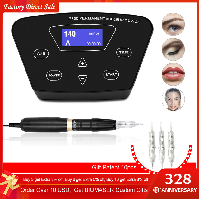 Valentine's day gift Eyebrow Tattoo Machine Pen For Permanent Make Up Eyebrows Microblading Makeup DIY Kit With Tattoo Needle