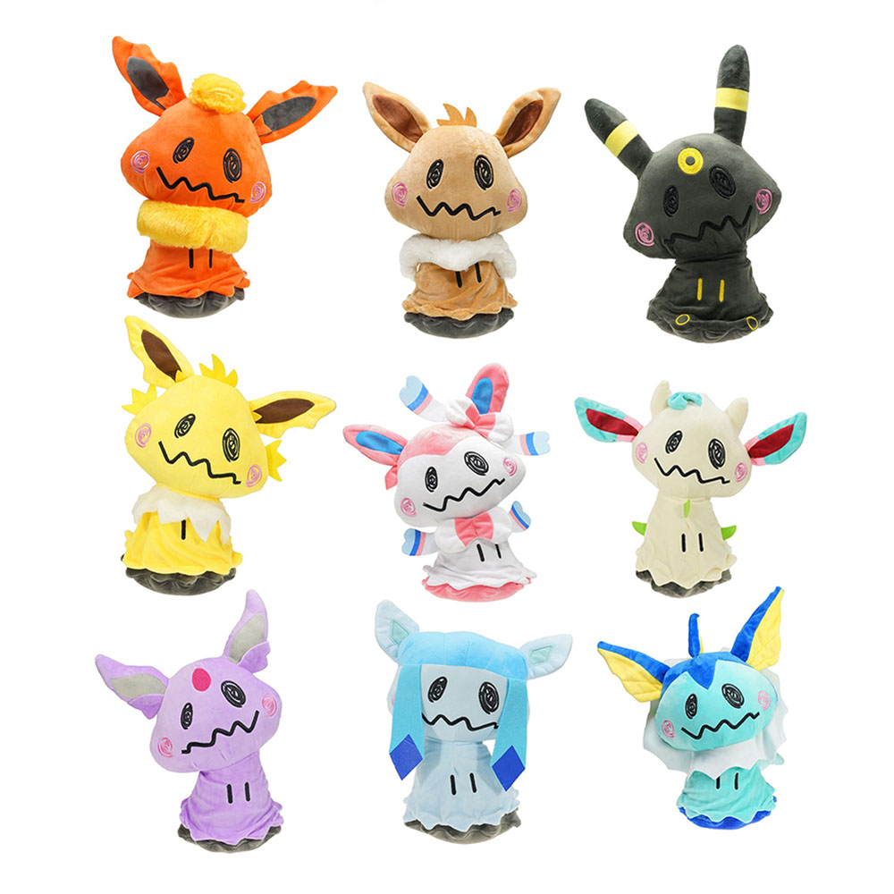 9pcs-set-takara-tomy-pet-font-b-pokemon-b-font-cut-pikachu-eevee-vaporeon-jolteon-plush-high-quality-peluche-animal-stuffed-toys-for-children