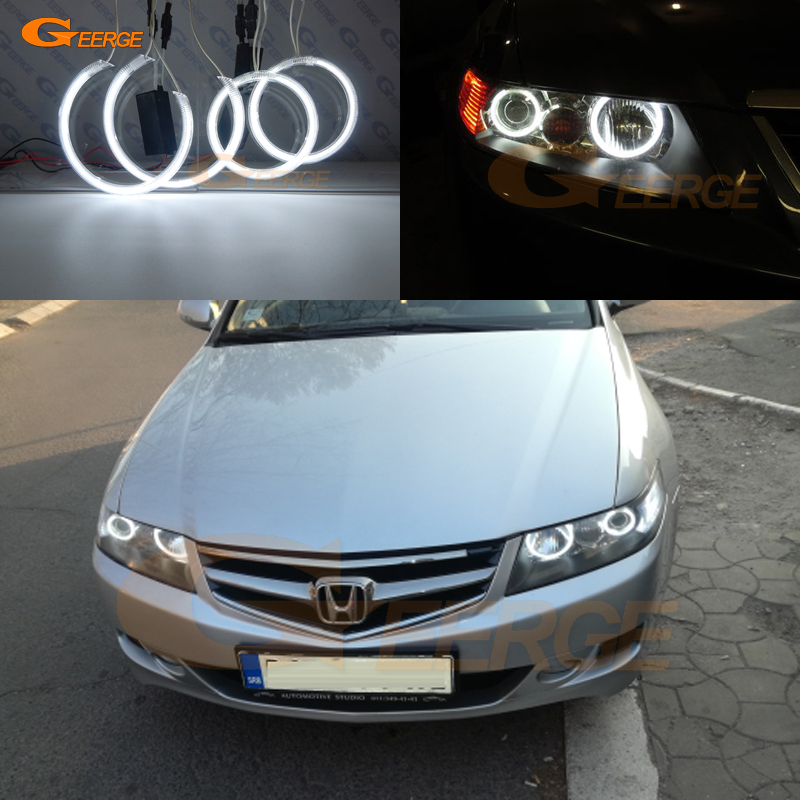 Excellent 4 Pcs Ultra Bright CCFL Angel Eyes DRL Halo Ring For Honda Accord CL7 CL9 CM2 2002 2003 2004 2005 2006 2007 2008