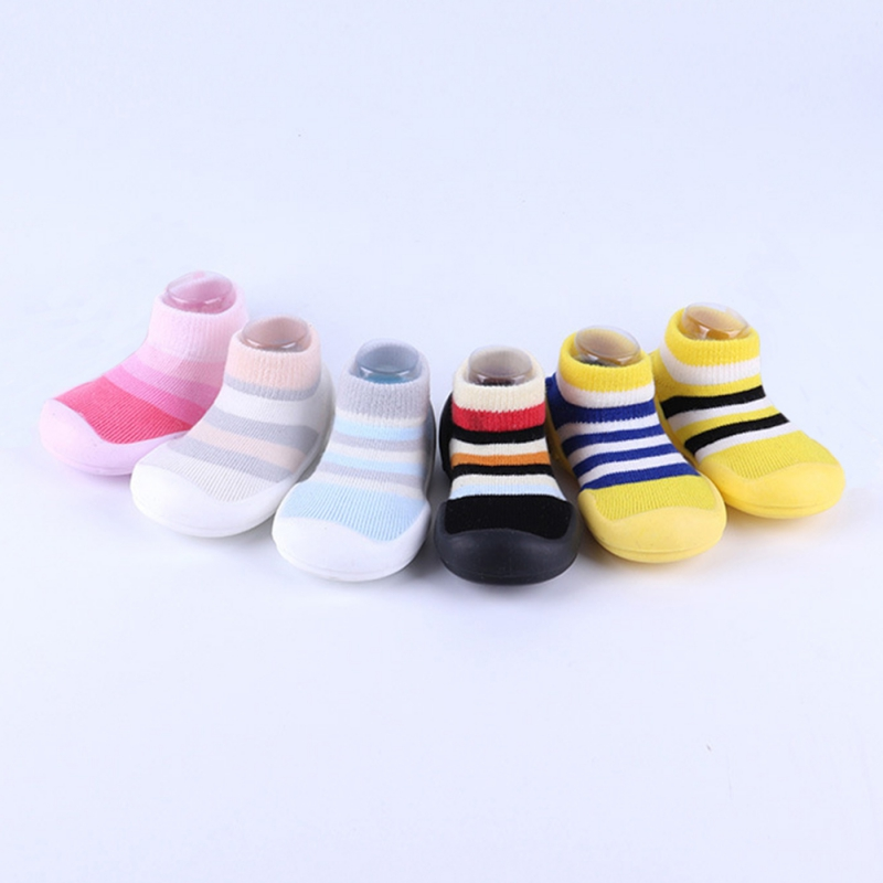 2020 Baby Socks With Rubber Soles Cartoon Baby Shoes Infant Sock Baby Steps Anti-slip Leather Kids Floor Socks Baby Slippers L
