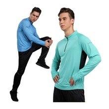 Maillot de sport à manches longues pour homme, séchage rapide, course, Jogging, Fitness, entraînement, vélo, T-Shirt de sport en plein air