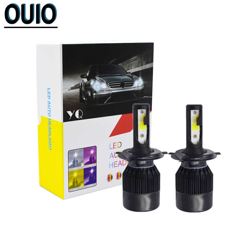 C6 LED Bulbs Strobe 4 Colors Flash Light 12V Car Headlight H4 H1 H3 H7 H11 800 881 9012 9005 60W/2PCS Auto Head Lamp Fog Lights