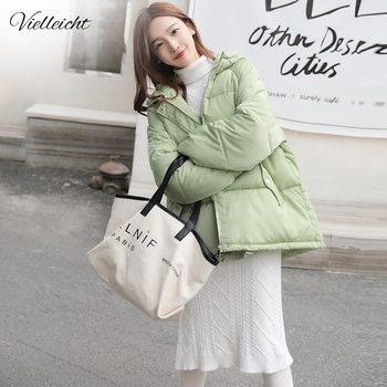 Vielleicht 2020 New Winter Jacket Women Parkas Thicken Outerwear Solid Hooded Coat Short Female Cotton Padded Jacket Basic Tops men winter jacket workwear hooded reflective thicken padded cotton clothes wear resistant work safety jacket workshop coat