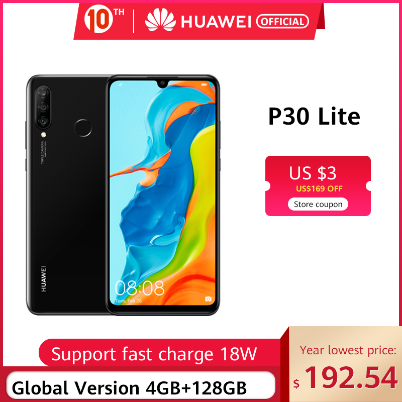In Stock Global Version Huawei P30 Lite 4GB 128GB Smartphone 24MP Triple Cameras 32MP Front Camera 6.15''  Kirin 710 18W QC