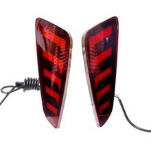 цена на For C-HR 2016-2019 Car Rear Fog Lamp Brake Tail Lights ABS Rear Bumper Lamps Red Rear Daytime Running Light Taillight Lens