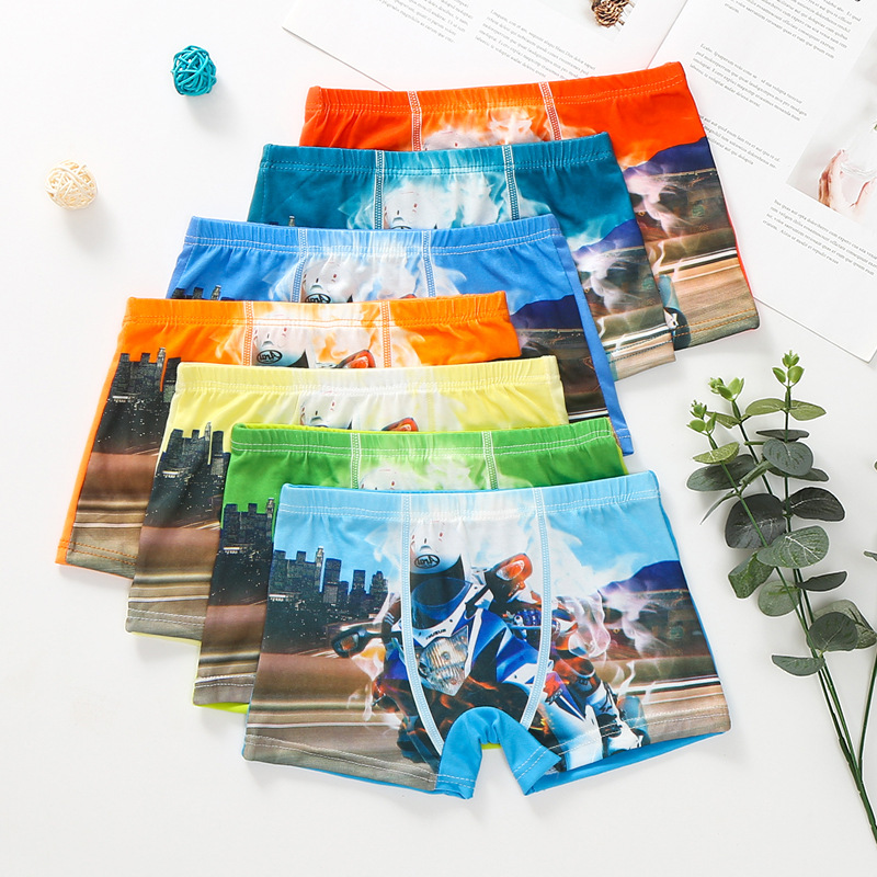 Kids Underwear 10 Pcs/lot Boy Boxer Briefs Children's 3D Underwear Boy Leggings Lace Princess Children's Pants Baby Boy Clothes