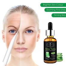 100% natural aloe vera rosto essense nutritivo pele rosto soro anti-inflamatorio eliminar marcas de acne soro facial 30ml