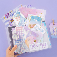 64/107 Pcs Material Paper Washi Tape Sticker Set Writing Paper Cards DIY Diary Scrapbooking Decoration Journaling Stationery