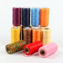 Płaskie nici woskowe 150d ręcznie szyte nici woskowe skórzane Multicolor Diy16 Strand Knitting Wax Rope 0.8mm