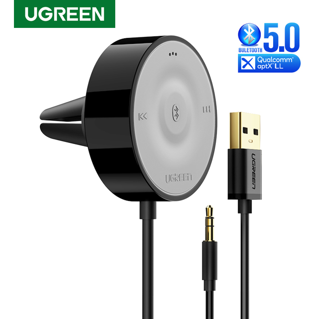 UGREEN Bluetooth 5.0 Car Kit Receiver aptX LL Wireless 3.5 AUX Adapter for Car Speaker USB Bluetooth 3.5mm Jack Audio Receiver 1