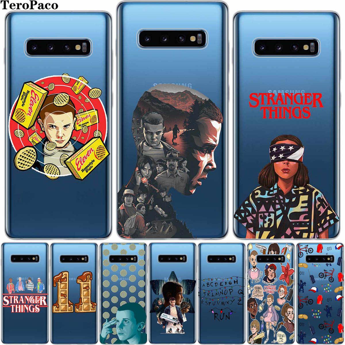Người Lạ Vật Hoạt Hình Ốp Lưng Điện thoại Samsung Galaxy S8 S9 S10 Plus S6 S7 Edge S10E Note 8 Note 9 lưu ý 10 Pro Etui
