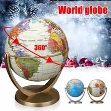 360 Degree Rotating Oceans Terrestrial World Globe Swivels in All Directions World Geography Map Decoration Kids Tpys