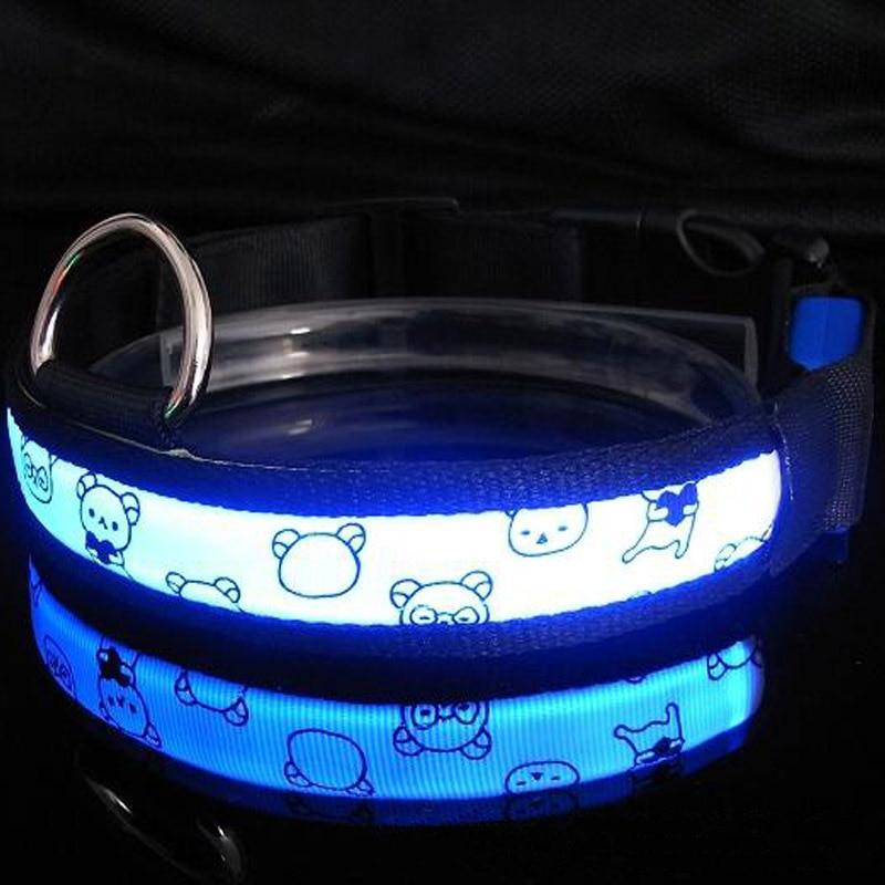 Pet Luminous Collar LED Neck Ring Dog Collar Night Light Neck Ring Flash Neck Ring Dog Supplies