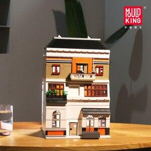 Image 2 - Uyumlu Lepining şehir sokak serisi kristal ev ışık seti modeli yapı taşları tuğla oyuncaklar çocuklar için DIY hediyeler