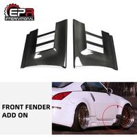 Carro-estilo para nissan 350z frente de fibra de carbono para-choque adicionar