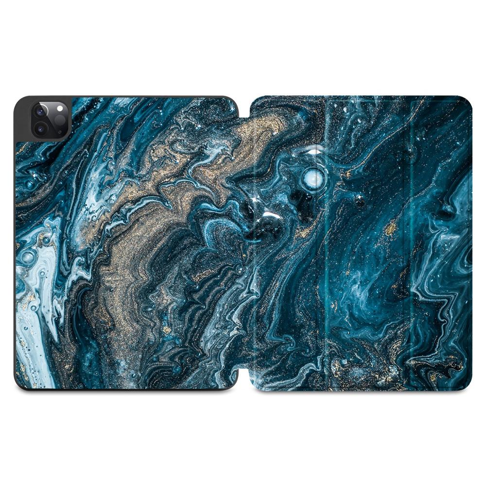 X149 Gray Flowers Print Case for Apple iPad Pro 11 2020 2018Full Body Protective Rugged Shockproof Case with