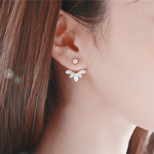 1Pc New Crystal Flower Stud Earrings For Women Girl Fashion Ear Piercing Earring Wedding Bride Jewelry