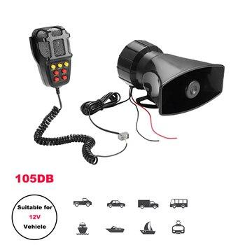 Car Horn Police Speakers  Siren Air Tone Sound 12V 100W Cry Megaphone Alarm Emergency Amplifier Hooter Motorcycle Ural Ambulance 1set tone sound car emergency siren horn emergency amplifier hooter 12v 100w