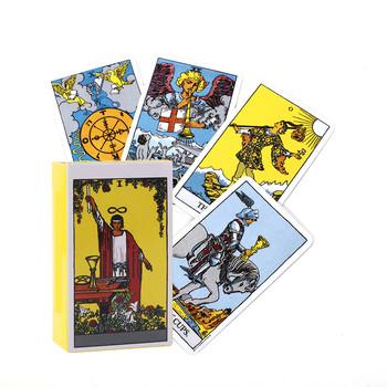 Gorący bubel karty tarota jeźdźca do wróżenia do użytku osobistego talia tarota pełna angielska wersja tanie i dobre opinie CN (pochodzenie)