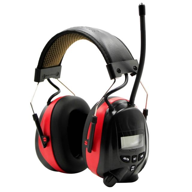 Protear nrr 25db 전자 청력 보호 장치 am fm 라디오 귀마개 전자 촬영 귀마개 헤드셋 청력 보호