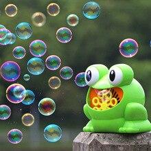 Лягушка автоматическая пузырьковая машина воздуходувка производитель дети крытый открытый партии игрушки свадебная вечеринка пузырьковая машина