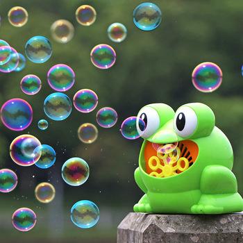 Żaba automatyczne urządzenie do baniek dmuchawy ekspres dzieci dzieci kryty imprezy na świeżym powietrzu zabawki wesele Bubble Machine tanie i dobre opinie HeLIC Max Z tworzywa sztucznego Certyfikat DONT EAT Bubble zestaw 5-7 lat 2-4 lat 8-11 lat Unisex Zwierząt Żaby Nietoksyczny