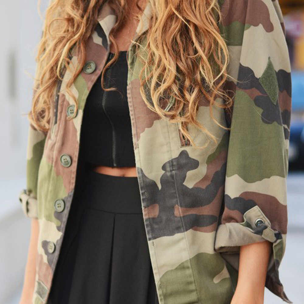 Women Camouflage Jackets Coat Spring Summer Streetwear Jacket Women Casual Cardigan Motorcycle Short Biker Jacket Outerwear