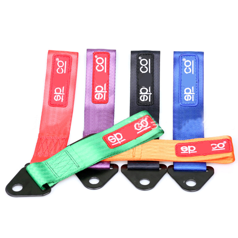 Car Heavy Duty Nylon Tow Rope Trailer Universal 2 Inches Car Racing Ropes Eye Trailer Strap Tow Strap Bumper Stylish Refitting