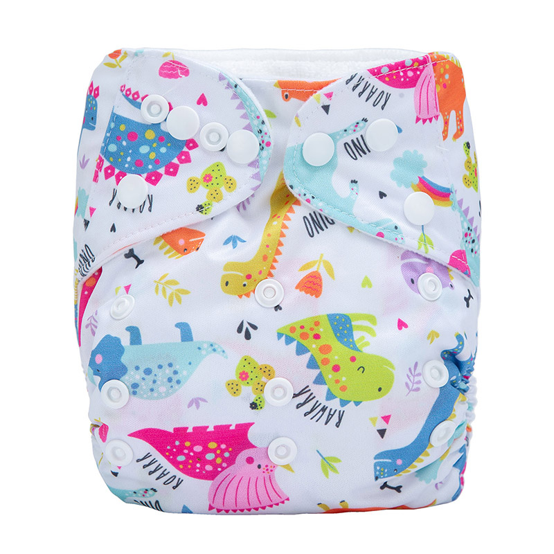 Reusable Baby Cloth Diaper Without Inserts Sleepy Baby Diaper Modern Waterproof Cloth Nappies N39