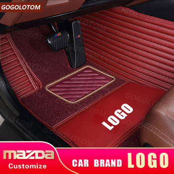 Custom car floor mats for Mazda All Models cx5 CX-7 CX-9 RX-8 Mazda3/5/6/8 March May 323 ATENZA accessorie car styling car mat