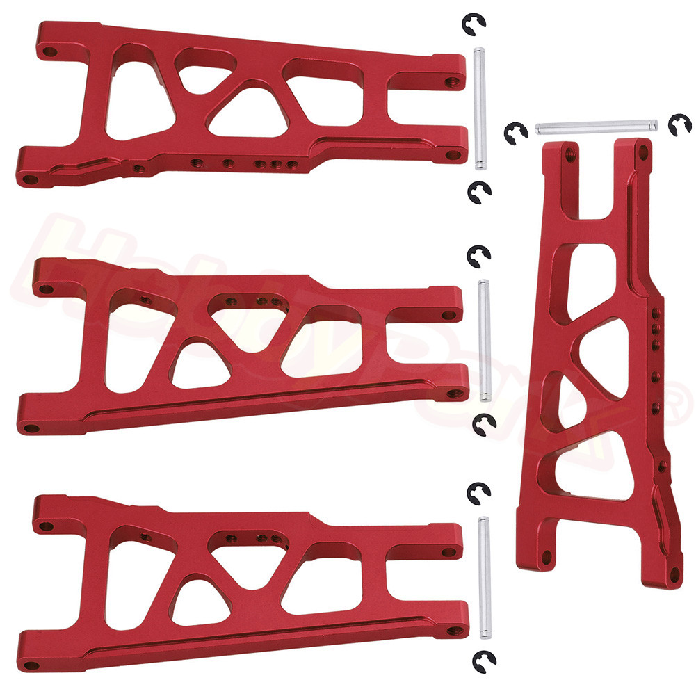 Aluminum Front & Rear Suspension A Arms L/R For 1/10 Traxxas Slash 4x4 Stampede 4WD 3655X Rally VXL W/TSM XO-1 HQ727 Parts