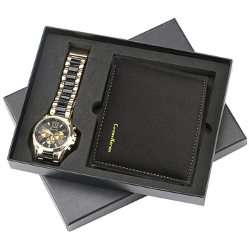 Mens Gift Set Beautifully Packaged Watch + Wallet Quality-Creative Combination 2021 New Styles Couples Stainless