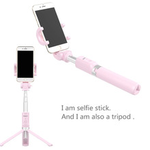 In Stock in Russia Selfie Stick Phone Tripod Extendable 26 Inch Monopod with Bluetooth Remote for iPhone Android Smartphone benro mk10 4 in 1 extendable bluetooth remote selfie stick monopod mini tripod phone stand holder mount for iphone android