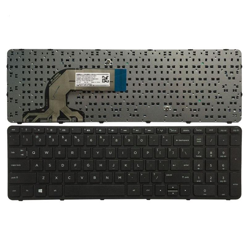 US black Frame NEW HP Pavilion 15 R series Keyboard 719853-001 749658-001